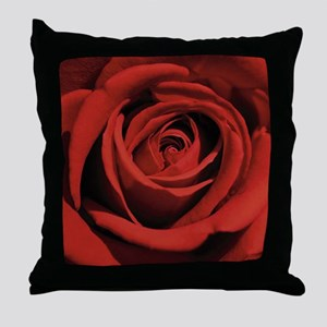 Lovers Red Rose Throw Pillow