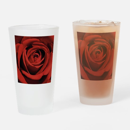 Lovers Red Rose Drinking Glass