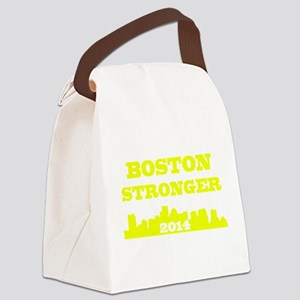 Boston Stronger Patriot Marathon Canvas Lunch Bag
