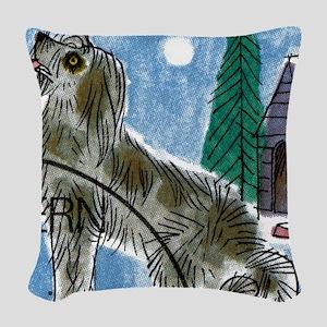 Vintage 1993 Switzerland Dog P Woven Throw Pillow