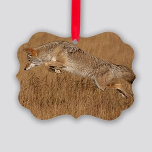 Coyote Flying Picture Ornament