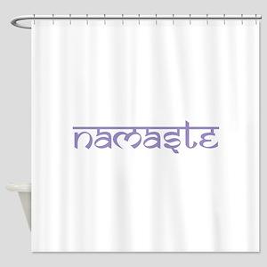 Namaste, Yoga Shower Curtain