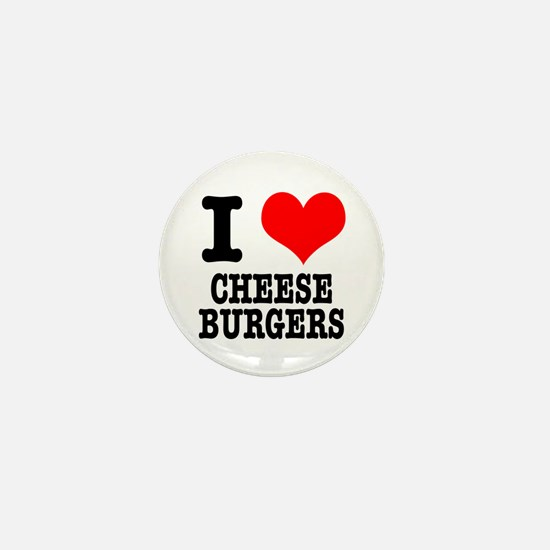 I Heart (Love) Cheeseburgers Mini Button