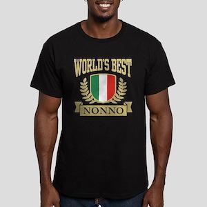 World's Best Nonno Men's Fitted T-Shirt (dark)