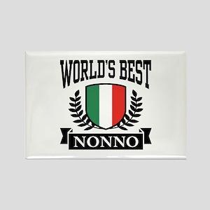 World's Best Nonno Rectangle Magnet