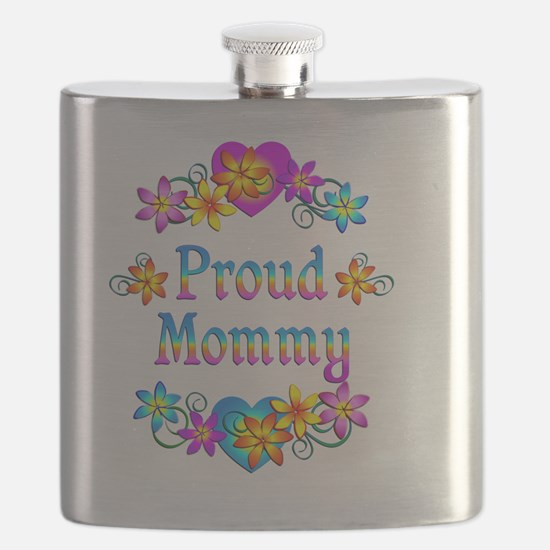 Proud Mommy Flowers Flask