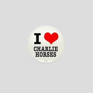 I Heart (Love) Charlie Horses Mini Button