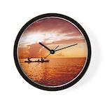 Miami Sunrise Canoe Trip Wall Clock