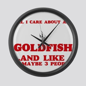 All I care about are Goldfish Large Wall Clock