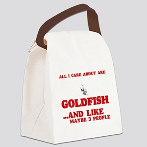All I care about are Goldfish Canvas Lunch Bag