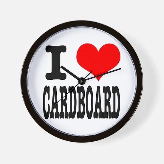 I Heart (Love) Cardboard Wall Clock