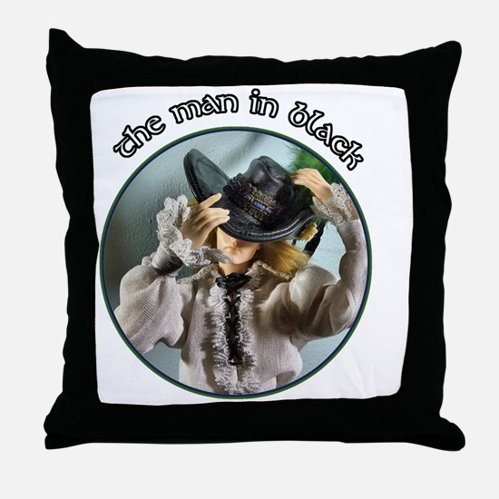 The Man in Black Throw Pillow