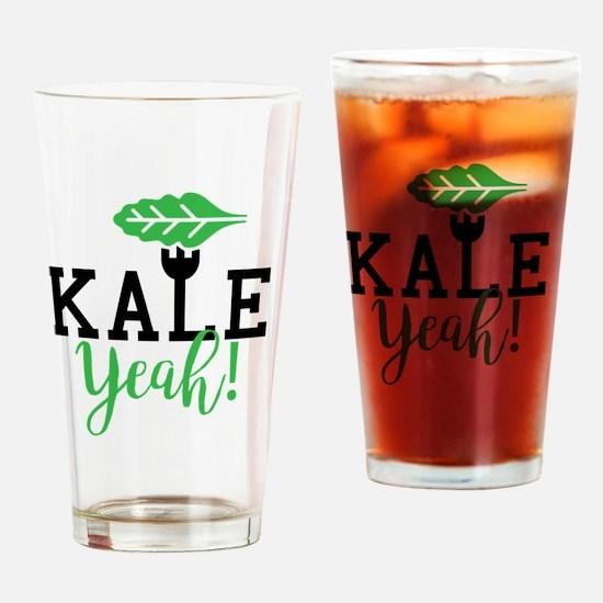 Cute Kale Drinking Glass
