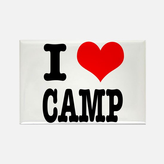 I Heart (Love) Camp Rectangle Magnet (100 pack)