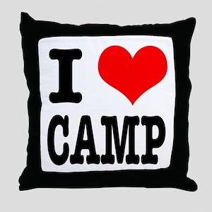I Heart (Love) Camp Throw Pillow