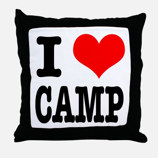 I Heart (Love) Camp Throw Pillow