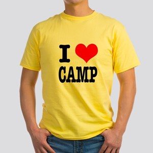 I Heart (Love) Camp Yellow T-Shirt