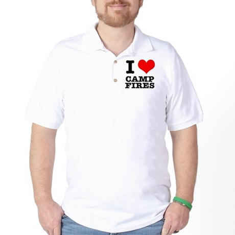 I Heart (Love) Camp Fires Golf Shirt