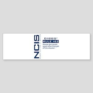 Gibbs' Rule #62 Sticker (Bumper)