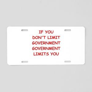 big bad government Aluminum License Plate