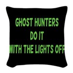Ghost Hunters Do It Woven Throw Pillow