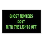 Ghost Hunters Do It Sticker (Rectangle 50 pk)