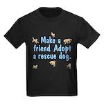 Adopt A Rescue Kids Dark T-Shirt