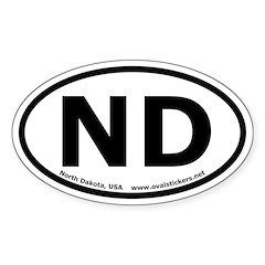 North Dakota Oval Bumper Decal