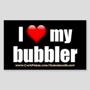 """Love My Bubbler"" Sticker (Rectangle)"
