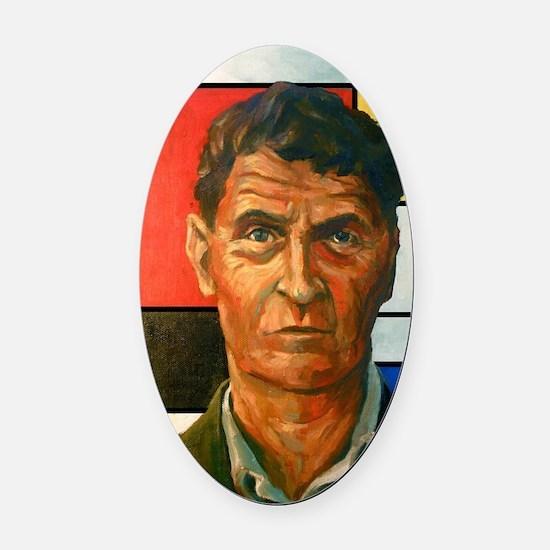 Wittgenstein Oval Car Magnet
