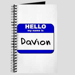 hello my name is davion Journal