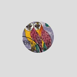 Vintage 1991 Switzerland Owls Postage  Mini Button