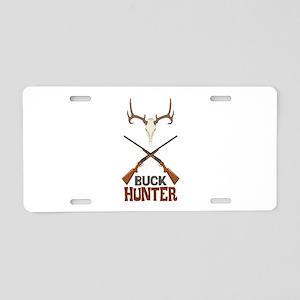 Buck Hunter Aluminum License Plate