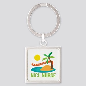 Retired NICU Nurse Square Keychain
