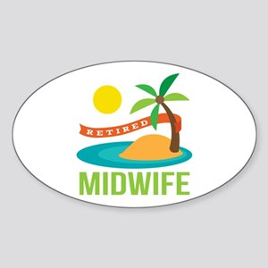 Retired Midwife Sticker (Oval)