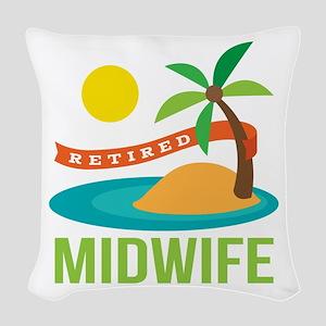 Retired Midwife Woven Throw Pillow