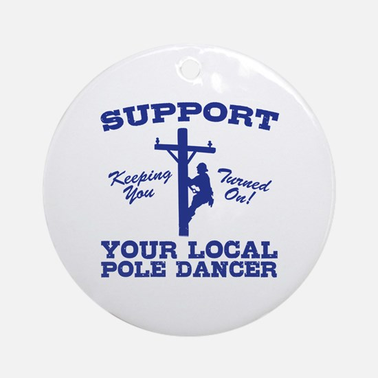 Cool The electric company Round Ornament