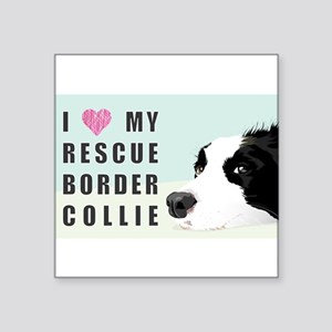 Border Collie Rescue Love Sticker