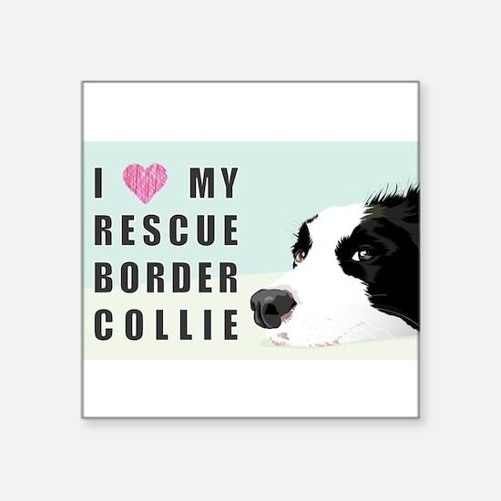 Border Collie Rescue Love Sticker