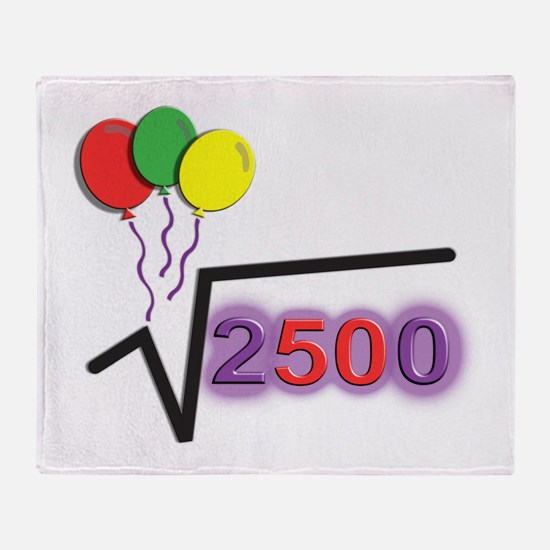 Funny Square Root 50th Birthday © Throw Blanket