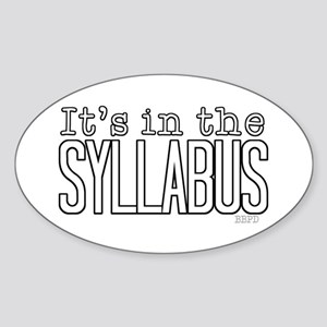 Its in the Syllabus Sticker