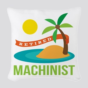 Retired Machinist Woven Throw Pillow