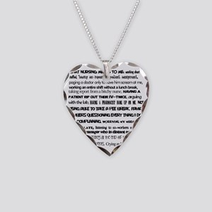 What nursing means to me Necklace Heart Charm