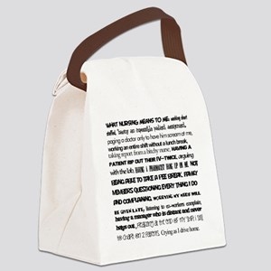 What nursing means to me Canvas Lunch Bag