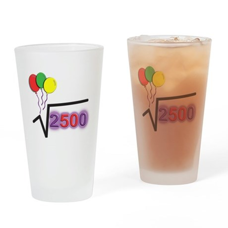 Funny Square Root 50th Birthday © Drinking Glass