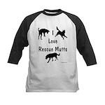 I Love Rescue Mutts Kids Baseball Jersey