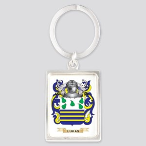 Lukas Coat of Arms - Family Cres Portrait Keychain