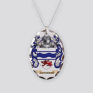 Lutheran Coat of Arms - Family Necklace Oval Charm