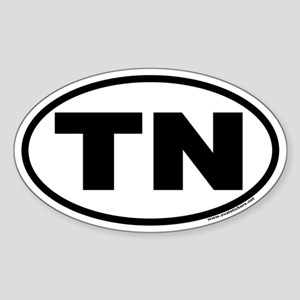 Tennessee TN Euro Oval Sticker