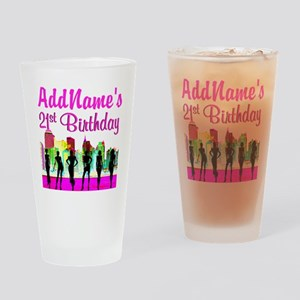 CHARMING 21ST Drinking Glass
